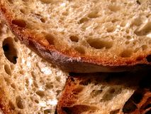 Handmade bread. Bread slices Stock Images