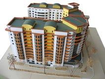 Handmade breadboard model of a modern building Stock Photos