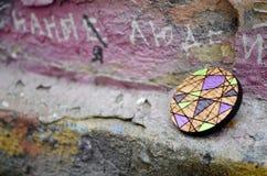 Handmade brooch. stock photos