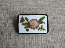 Handmade brooch Royalty Free Stock Photography