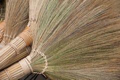 Handmade brooms Stock Image