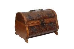Handmade brown szkatuła Obrazy Stock