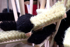 Handmade brushes and brooms Royalty Free Stock Photos
