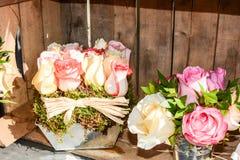 Handmade bukiet z wiosna kwiatami Fotografia Stock