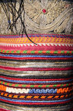 Handmade Bulgarian textile. Colorful thread.Market Royalty Free Stock Photo