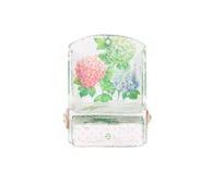 Handmade bureau with floral pattern. Stock Photo