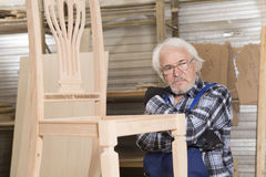 Handmade business at small furniture factory. Stock Image