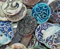 Handmade button Stock Photography