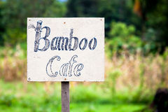 Handmade cafe sign Royalty Free Stock Photos