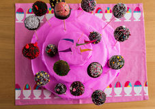 A Handmade Cake of Cake-Pop. Made in a baking class with a famous chef in Spain Royalty Free Stock Photos