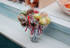Handmade Cake Pops Stock Images