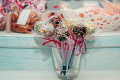 Handmade Cake Pops Stock Photography