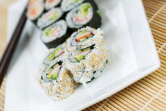 Handmade California Rolls - Sushi Royalty Free Stock Photos