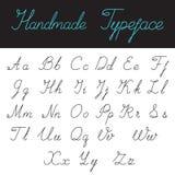 Handmade Calligraphic Script Font Linear style vec Stock Image
