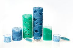 Handmade candles Stock Image