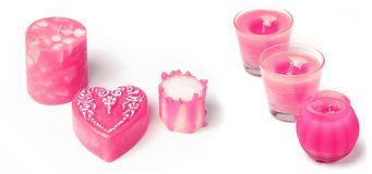 Handmade candles Royalty Free Stock Photos