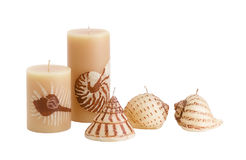Handmade candles Stock Photography