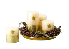 Handmade candles Stock Photos