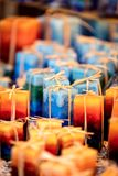 Handmade candles on the market, handicraft for sale on the chris Royalty Free Stock Photography