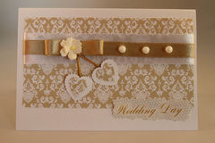 Handmade card Stock Image