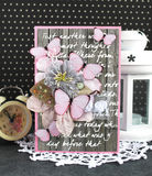 Handmade card with butterflies Royalty Free Stock Photography