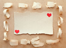 Handmade card from paper. Love letter. Valentine's Day Royalty Free Stock Photos