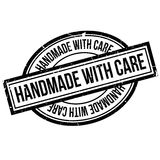 Handmade With Care rubber stamp Stock Photos