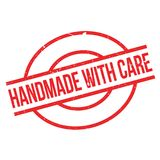 Handmade With Care rubber stamp Stock Photo