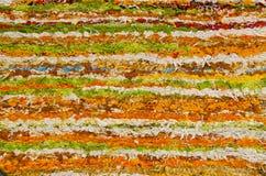 Handmade carpet fragment background Stock Image