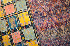 Handmade carpet in Morocco Stock Image