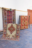 Handmade Carpets. Colourful Handmade Carpets Displayed on the Street Royalty Free Stock Images