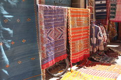 Handmade carpets, Morocco Royalty Free Stock Image