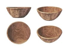 Handmade Carved Wooden Bowl Royalty Free Stock Image