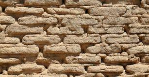 Handmade cegły ściana tworzy wzór Fotografia Royalty Free