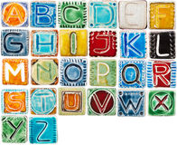 Handmade ceramic alphabet Stock Photography