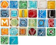Handmade ceramic alphabet Stock Photography