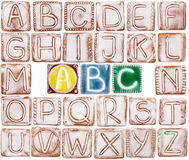 Handmade ceramic alphabet Royalty Free Stock Photo