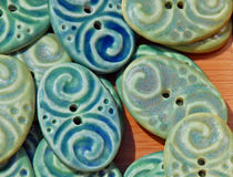 Handmade Ceramic Beads Stock Images