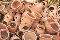 Handmade ceramic clay Stock Photo