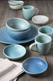 Handmade ceramic dishware Stock Image