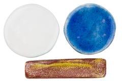 Handmade ceramic elements Stock Photo