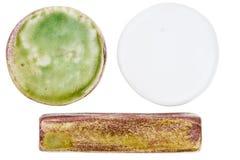 Handmade ceramic elements Stock Images