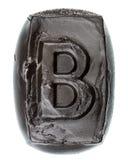 Handmade ceramic letter B Stock Photography