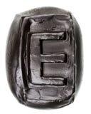 Handmade ceramic letter E Stock Image