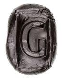 Handmade ceramic letter G Royalty Free Stock Photos