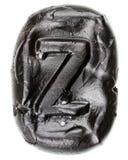 Handmade ceramic letter Z Royalty Free Stock Image