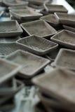 Handmade ceramic plates Royalty Free Stock Photography