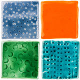 Handmade ceramic tiles Stock Photo