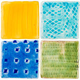 Handmade ceramic tiles Royalty Free Stock Image