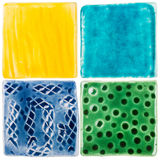Handmade ceramic tiles Stock Photography